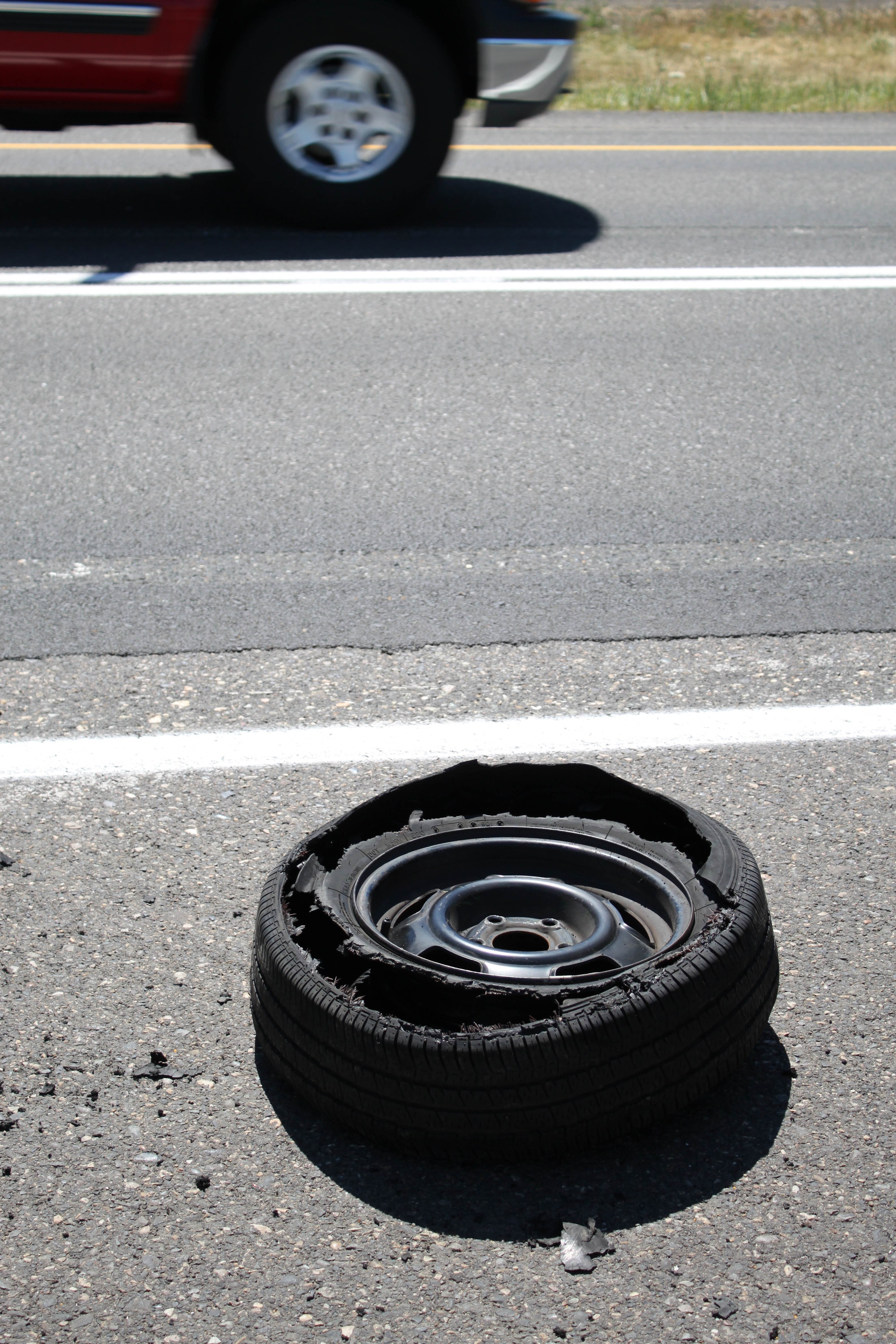 How to Drive When Having a Tire Blowout